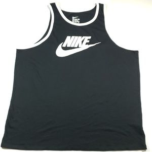 Nike black and white the nike tee mens tank xxl